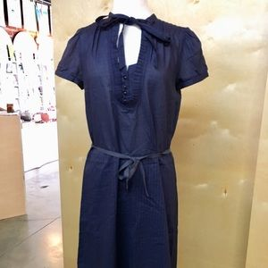 Marc by Marc Jacobs Navy Pinstripe Dress
